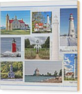Collection Of Lighthouses Wood Print
