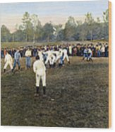 College Footbal Game, 1889 Wood Print