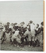 College Football Game, 1905 Wood Print