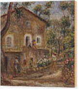 Collette's House At Cagne Wood Print