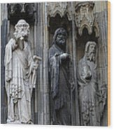 Cologne Cathedral Statues Wood Print