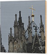 Cologne Cathedral Towers Wood Print