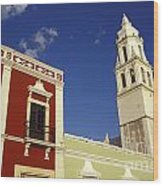Colonial Colors Campeche Mexico Wood Print