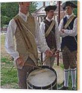 Colonial Drummer Wood Print