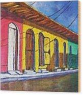 Colonial Homes Granada Nicaragua Wood Print