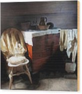 Colonial Nightclothes Wood Print