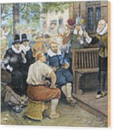 Colonial Smoking Protest Wood Print