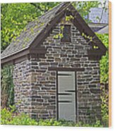 Colonial Stone Ice House Wood Print