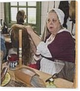 Colonial Wigmaker Wood Print