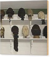Colonial Wigs Display Wood Print