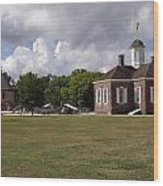 Colonial Williamsburg Scene Wood Print