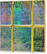 Colonial Window Panes Wood Print