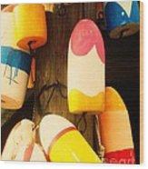 Color Blocks Wood Print by Julia-Rose Liptak