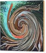 Color In Motion Wood Print by Virginia Bond