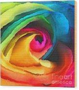 Color Launch Wood Print