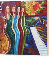 Color Of Music Wood Print by Yelena Rubin