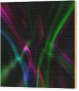 Color Rays Wood Print