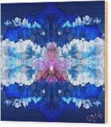 Color Sky Orchid Wood Print