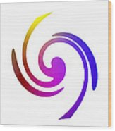 Color Spiral Wood Print