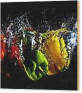 Color Splash Wood Print by Michael Murphy
