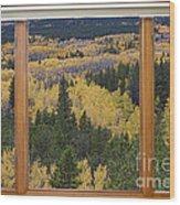 Colorado Autumn Picture Window Frame Art Photos Wood Print