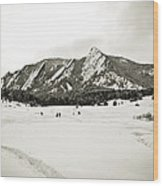 Colorado Boulder Flatirons  Wood Print