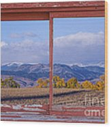 Colorado Country Red Rustic Picture Window Frame Photo Art Wood Print