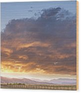 Colorado Evening Light Wood Print