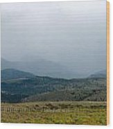 Colorado Foothills Wood Print