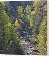 Colorado Left Hand Creek Boulder County Autumn View Wood Print