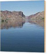 Colorado River At Willow Beach Az Wood Print