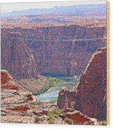 Colorado River In Arizona Wood Print