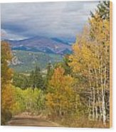 Colorado Rocky Mountain Autumn Scenic Drive Wood Print