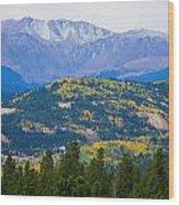 Colorado Rocky Mountain Autumn View Wood Print
