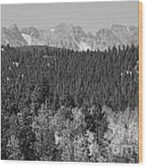 Colorado Rocky Mountain Continental Divide View Bw Wood Print