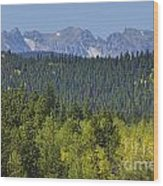 Colorado Rocky Mountain Continental Divide Autumn View Wood Print