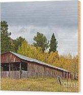 Colorado Rustic Autumn High Country Barn Wood Print