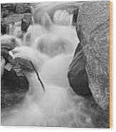 Colorado St Vrain River Trance Bw Wood Print