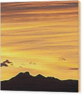 Colorado Sunrise Landscape Wood Print