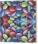 Colored Beans Design Wood Print