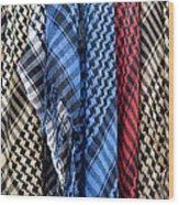 Colored Palestinian Keffiyeh Wood Print