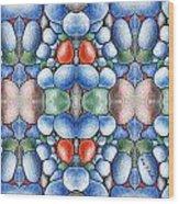 Colored Rocks Design Wood Print