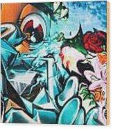 Colorful Abstract Graffiti Wall Wood Print