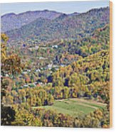 Colorful Autumn Valley Wood Print