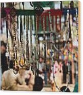 Colorful Beads At The Surajkund Mela Wood Print
