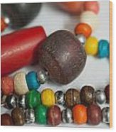 Colorful Beads In Chains Wood Print