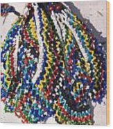 Colorful Beads Jewelery Wood Print
