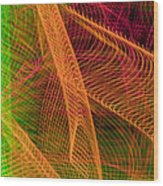 Colorful Beams 1 Wood Print