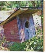 Colorful Birdie House Wood Print