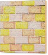 Colorful Brick Wall Wood Print